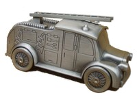 Fire Engine Pewter Money Box