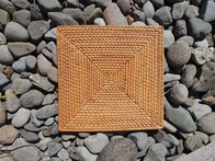 Rattan Cane Placemat - Natural - Square