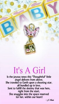 z Affirmation Angel Pin - It's a Girl