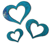 Mosaic Heart Outline / Turquoise