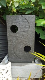 Yin Yang Water Feature with Holes 70cm x 100cm
