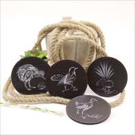 Printed Coasters Sketch Native Birds