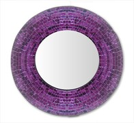 Mosaic Mirror 60cm / Purple