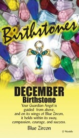 z Affirmation Angel Pin - Birthstone December