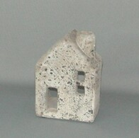 Stone Tealight House - with chimney 15cm