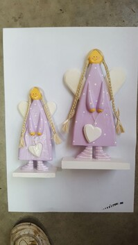 Freestanding Angel With Heart - Purple