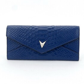 Royal Blue Leather Wallet