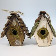 Ornament - Wooden Bird House