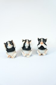 Set of 3 Piglets - Hear no, See no, Speak no