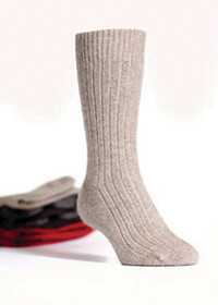 Possum merino - Ribbed Socks / Mocha