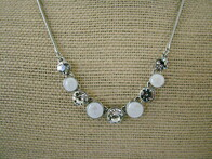 Necklace - Opaque & Glass Bead Necklace