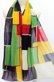 Scarf - Bold Block Abstract - Yellow