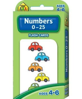 School Zone Flash Cards - Numbers 0-25