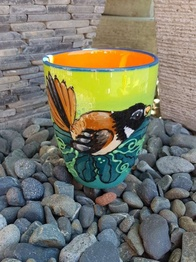 NZ Made Hand Painted - Fantail Blokes Mug
