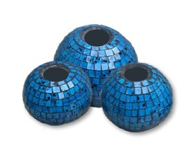 Mosaic Candle Ball / Turquoise