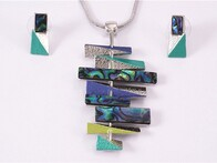 Necklace - Paua Bars Set