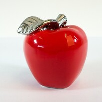 Ceramic - Red & Silver Apple