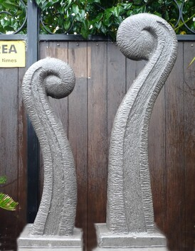 Concrete Koru Garden Sculpture