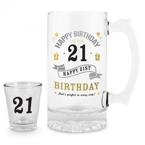 21st Stein & Shot Glass Set