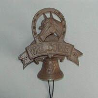 Cast Iron Horse Welcome Bell