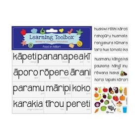 Learning Toolbox Magnets / Food in Te Reo Maori