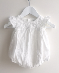 Arthur Avenue - Milk White Delicate Playsuit