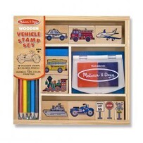 Vehicle Wooden Stamp Set