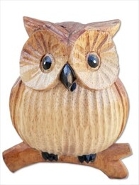 Wooden Owl / Small