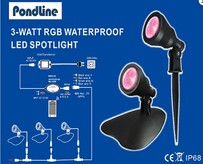 ZWF LED Spotlight - Single (3 watt) Auto Colour Changing - 4 pin