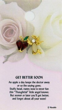 z Affirmation Angel Pin - Get Better Soon