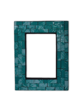 Mosaic Photo Frame / Teal