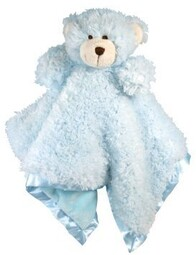 Baby Cuddly Blanket - Animals / Blue Bear