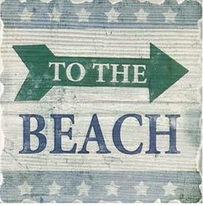 Coasters - To The Beach Set of 6