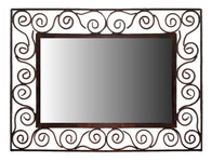 Metal Frame Mirror / Curly Decor