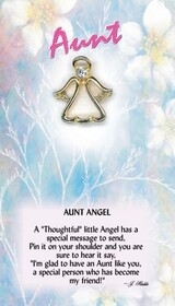 z Affirmation Angel Pin - Aunt Angel