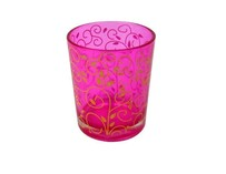 Tealight Candle Glass / Pink