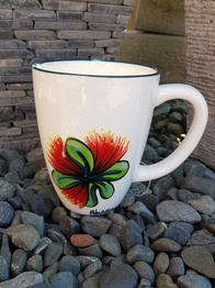 NZ Made Hand Painted - Pohutukawa Blokes Mug