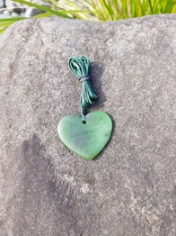 Peace of Pounamu - Heart 4cm
