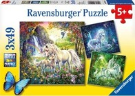Ravensburger Puzzle -  Beautiful Unicorns 3x49 Pieces