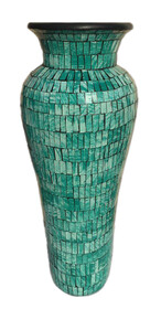 60cm Mosaic Vase with Mosaic inner / Teal