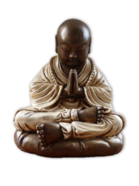 Shaolin Buddha Monk 25cm / Gold & Cream
