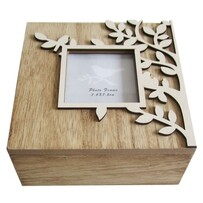 Trinket Box with Leaf Frame