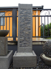 Slate Pillar Water Feature 50cm x 155cm
