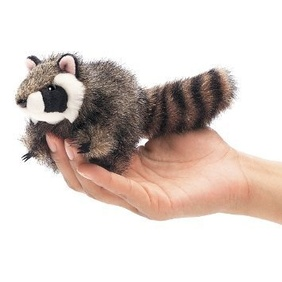 Folkmanis Finger Puppet / Raccoon (mini)