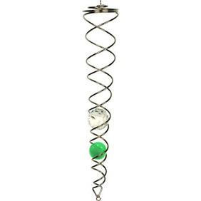 Wind Chime - Crystal Spinner / Green & Clear