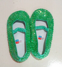 Sequin Shoes - Lime Green