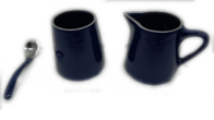 Aluminium Milk Pot and Sugar Pot - Dark Blue