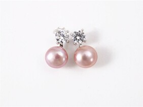 Earrings - Fresh Water Pearl - Pink