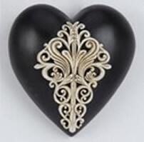 Collectable Heart -Black w White Deco