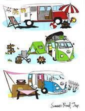 Tea Towel - Summer Road Trip